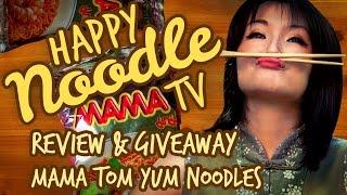 Happy Noodle Tv Eats Mama Shrimp Tom Yum Noodles Feat. Seafood!
