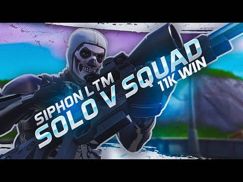 Suppressed Snipes in Solo v Squads! *Siphon LTM* (Fortnite Battle Royale Season 7)