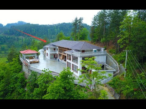 贵州农村一户人家花了500多万,在深山里建了1000多平米大别墅