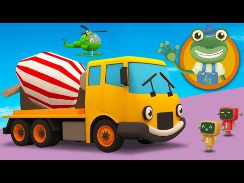 Celia The Cement Mixer Visits Gecko's Garage | Construction Trucks for Kids