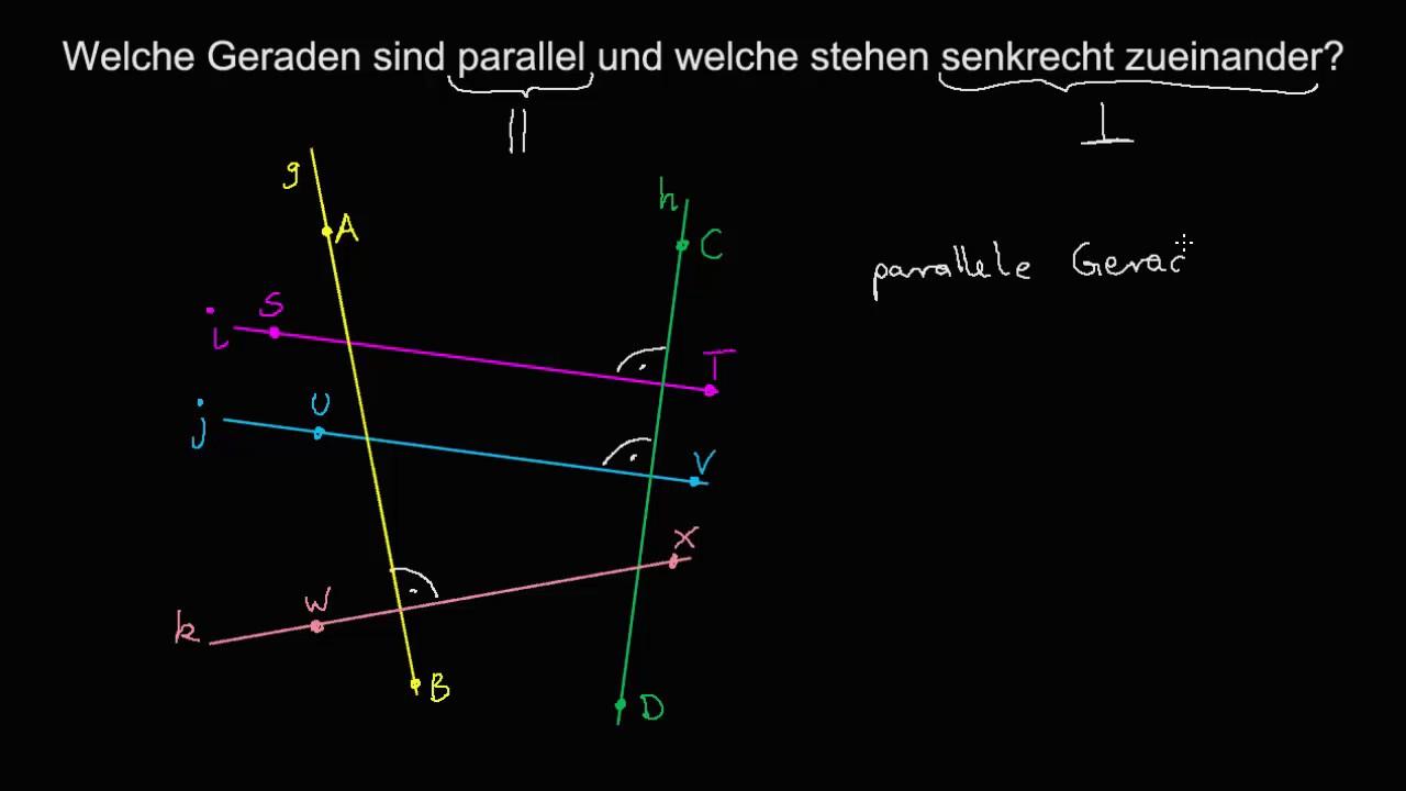 Parallele und senkrechte Geraden - YouTube