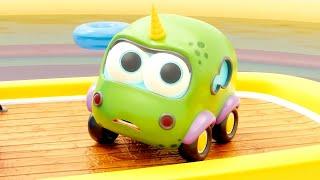 🚙 Машинки Мокас – Серия 16 – Бассейн во дворе | Новый мультик для детей про машинки