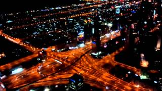 Night View From 124th Floor of Burj Khalifa Dubai