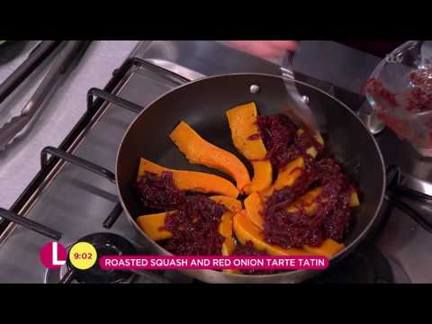 Andrew Smyth's Roasted Squash and Red Onion Tarte Tatin | Lorraine