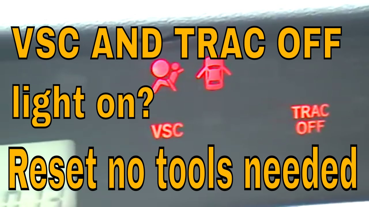 Vsc And Trac Off Light On Scion Toyta Lexus Youtube Fuse Diagram For 2007 Highlander