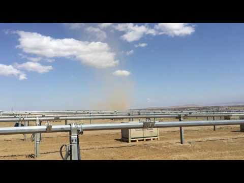 Dust Devil at Garland Solar Facility