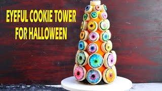 Eyeful Cookie Tower For Halloween, Haniela's