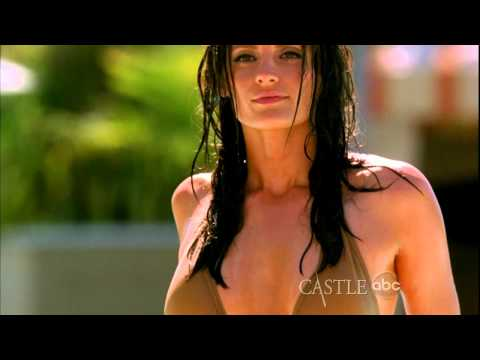 Stana Katic  THE pool   wow :  Castle