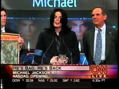 Michael Jackson Rings NASDAQ Bell And Eats Birthday Cake