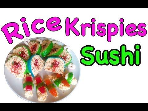 How to Make Rice Krispies Sushi - Candy Sushi - Dessert Sushi