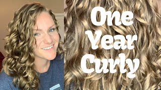 My Curly Hair Journey 2A, 2B, 2C Curls! With Before and After Photos
