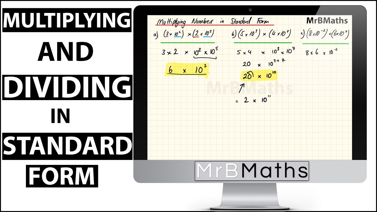 Multiplying and dividing with standard form mrbmaths youtube multiplying and dividing with standard form mrbmaths falaconquin