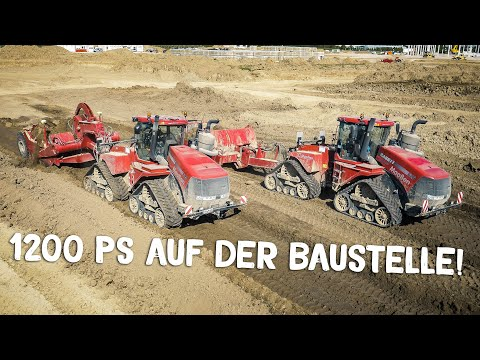 CASE IH Biggest Tractors | Construction Site | Caterpillar Excavator | Part 1