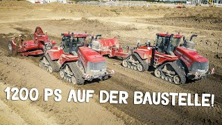 CASE IH QUADTRAC | Biggest Tractors | Construction Site | Caterpillar Excavator | Part 1