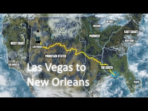The Crew - Driving from Las Vegas to New Orleans (Timelapse)