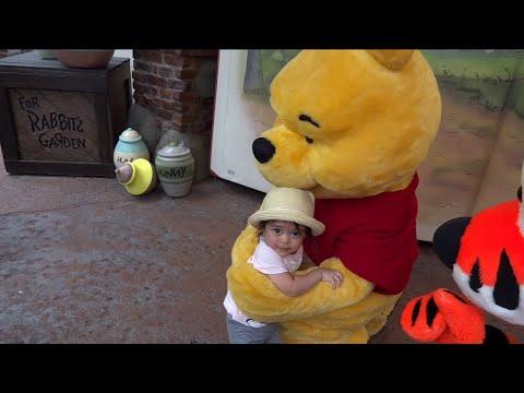 Baby Playful at Disney World: Meeting Tigger & Pooh