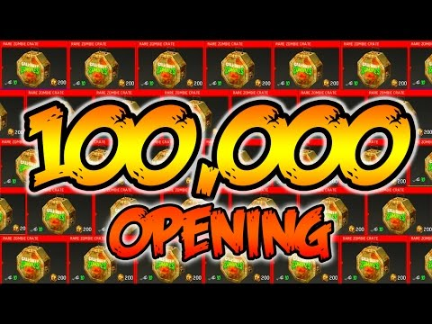 ULTIMATE 100,000 ZOMBIE SUPPLY DROP OPENING! - INFINITE WARFARE ZOMBIES CRATE OPENING! (IW Zombies)