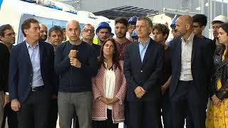 El presidente Mauricio Macri inaugura Estación Sáenz