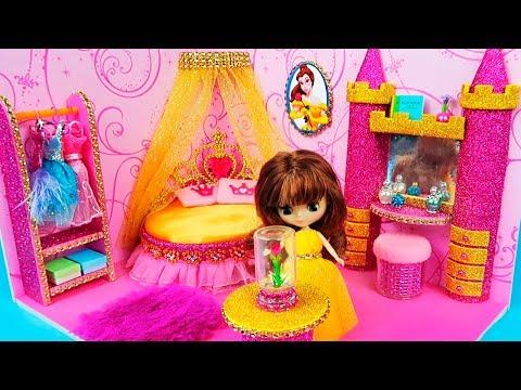 DIY Miniature Dollhouse Room ~ Belle Room Decor