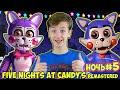 ПЯТЬ НОЧЕЙ С КЕНДИ Пятая НОЧЬ / Five Nights At Candy's / Новые АНИМАТРОНИКИ Кирилл и Джереми 13+