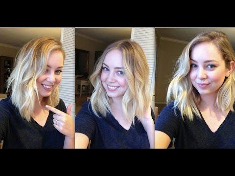 My Hair Curling Technique Medium Length Lob