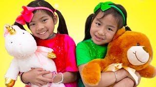 Hello Song   Jannie & Emma Pretend Play Nursery Rhymes & Kids Songs