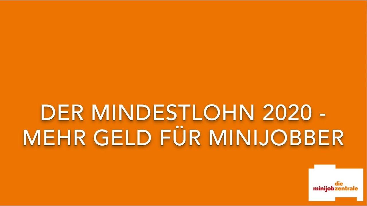 Mindestlohn in deutschland 2020
