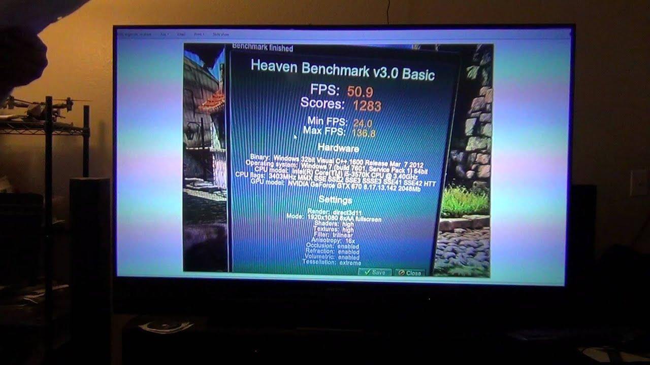 GTX670 (bios mod) Heaven Benchmark 3 0 Results