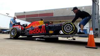 MOVING THE RED BULL FORMULA 1 RACE CAR