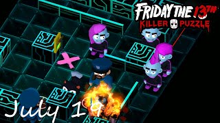 Friday the 13th Killer Puzzle Daily Death July 19 2020 Walkthrough