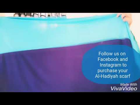 Hijab tutorial for an Al-Hadiyah Designs scarf