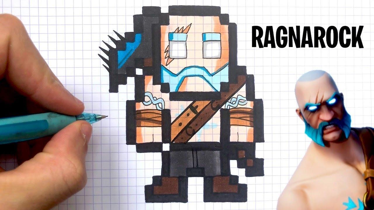 How To Draw Ragnarock Skin Pixel Art Fortnite