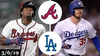 """-- dodgers vs braves highlights - may 6, 2019 --#dodgers #braves #mlbuse promo code """"truergm"""" on seatgeek for $20 off your first purchase: https://sg.app.li..."""