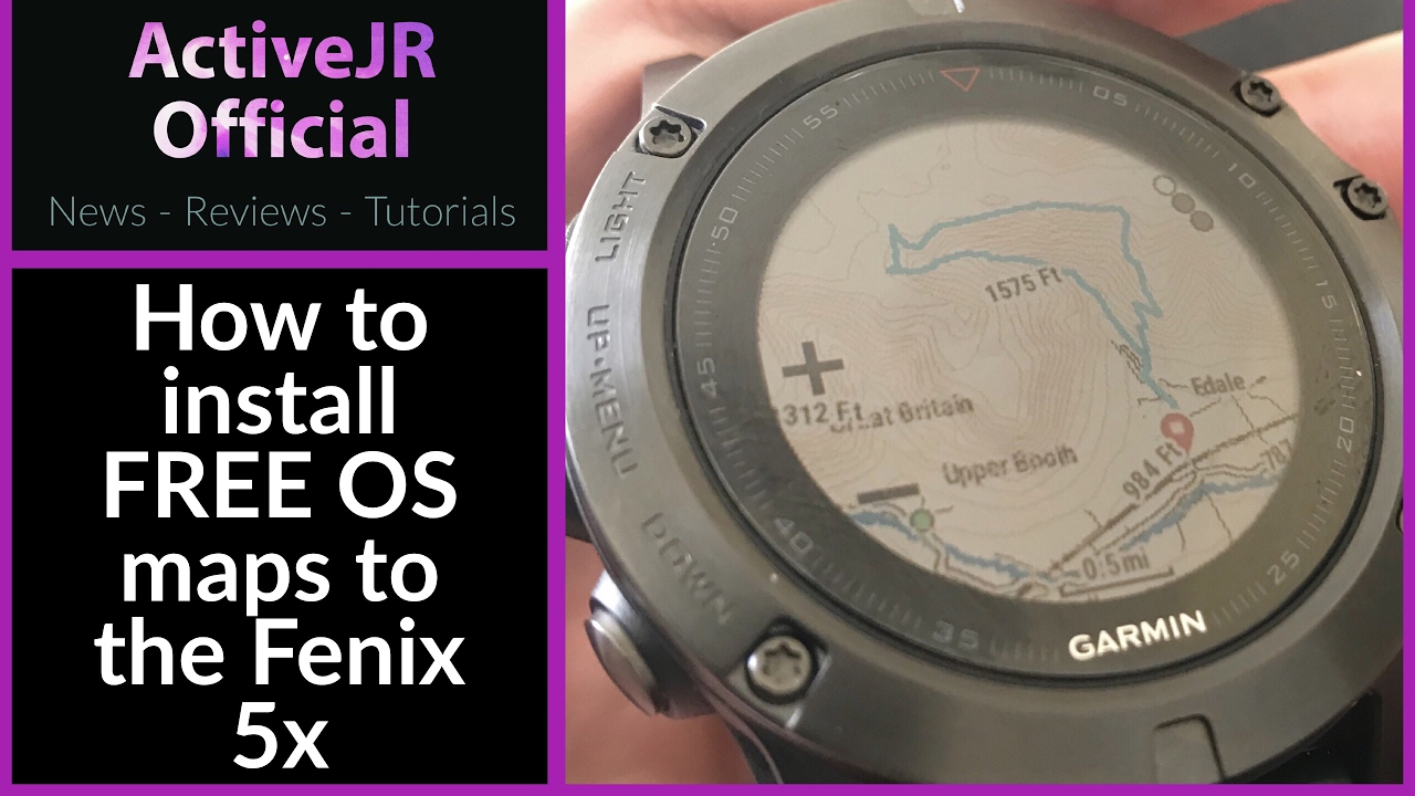Garmin Fenix 5x How To Install Free Open Street Maps With