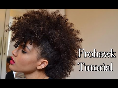 Natural Hair - Frohawk tutorial - 2 easy ways! - YouTube