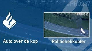 Politie #PRO247 Auto over de kop
