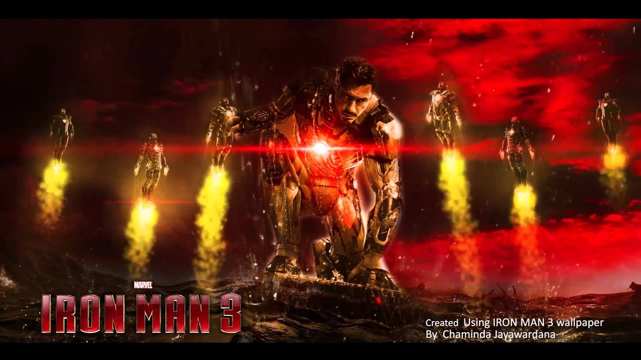 iron man 3 - wallpaper animation - youtube