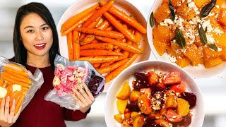 Easiest VEGETABLE SIDES - Sous Vide Butternut Squash, Beets, and Carrots