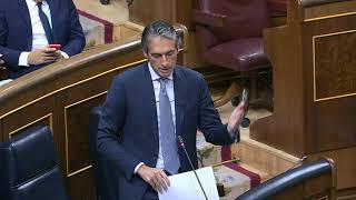 Respuesta Ministro Fomento a Iñigo Alli sobre la llegada de la alta velocidad a Navarra