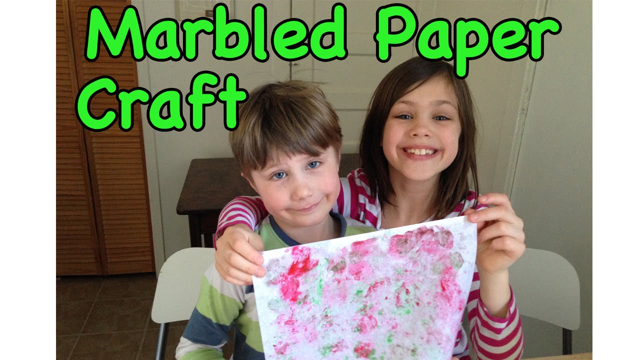 Make Your Own Marbled Paper Paper Craft For Kids Youtube