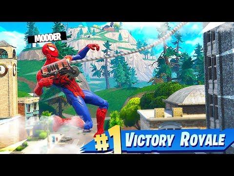 MODDER HACKS SPIDER-MAN SKIN IN FORTNITE BATTLE ROYALE!
