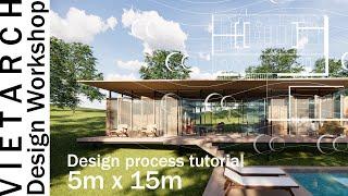 Tiny House Design Tutorial  5x15meters