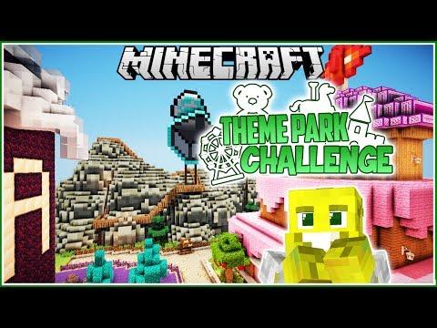 YOUTUBER LAND! | Minecraft Theme Park Challenge | Ep.5