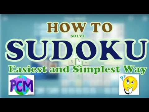 How to Solve Sudoku Simplest and Easiest Method | HINDI | PCMpedia