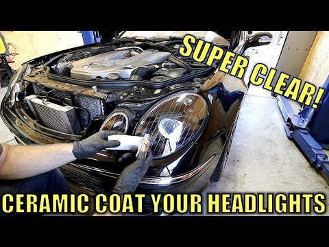 How To Restore Headlights With Ceramic Coating. Super Cheap, Super Satisfying!