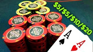 (INSANE ACTION!) HUGE $5/5/10/20 Cash Game with Chris Moneymaker!