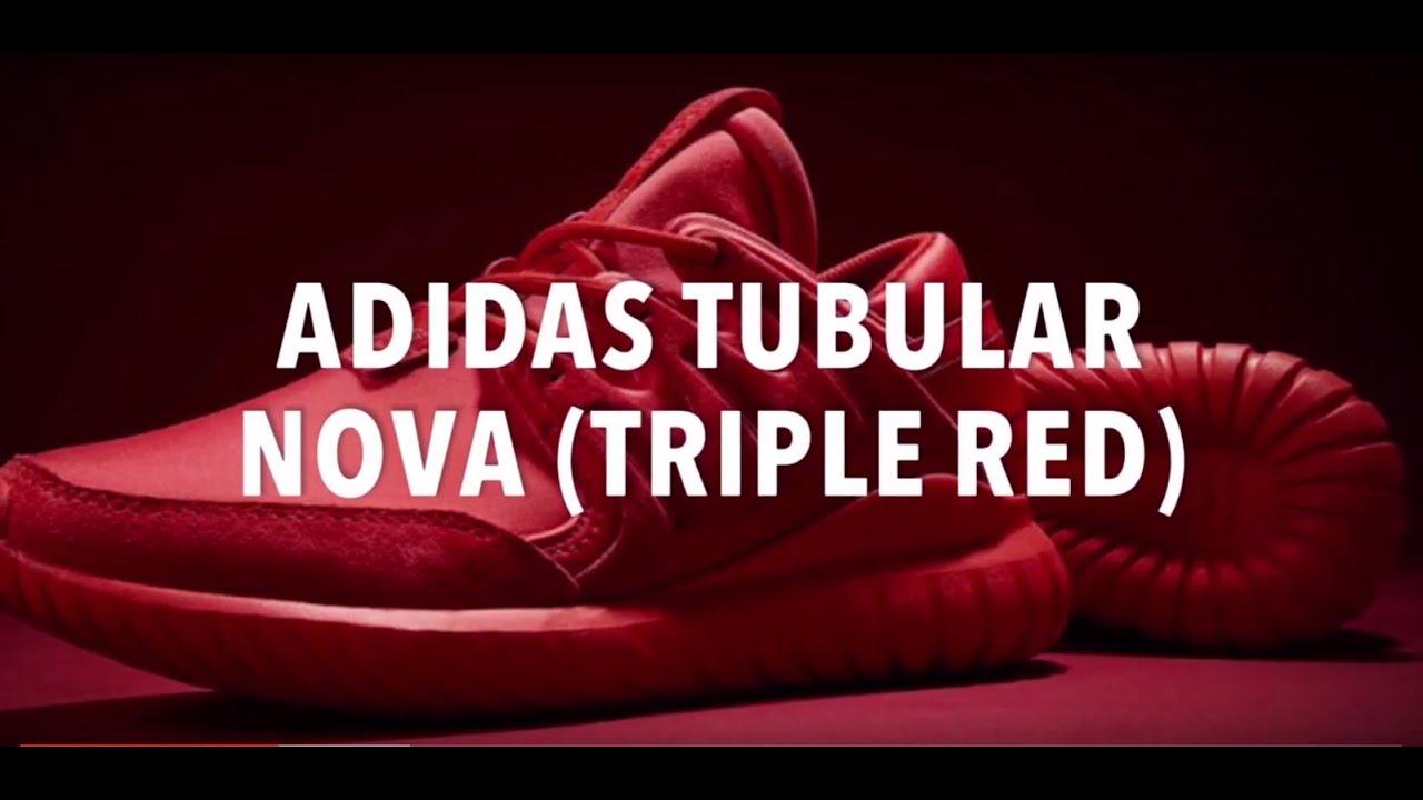 Adidas tubular Nova (triple rojo) zapatos deportivos noticias YouTube