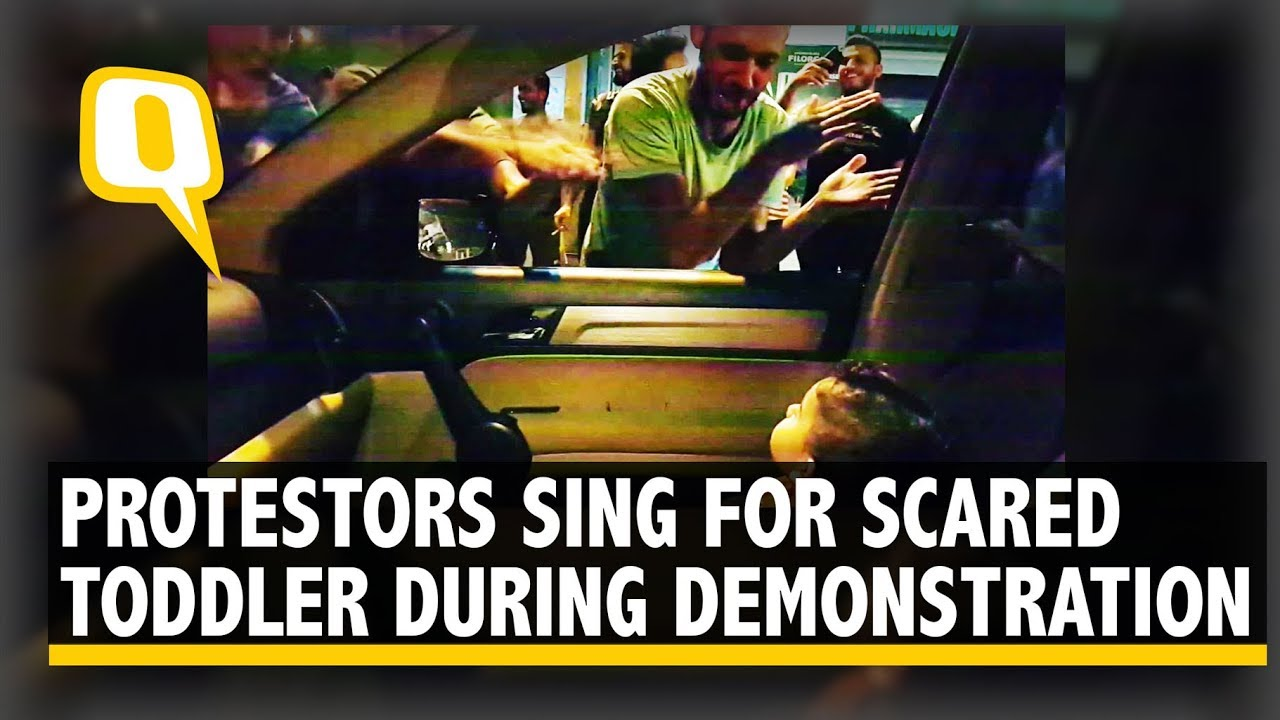 Lebanon Protesters Stop and Sing 'Baby Shark' for Scared Toddler | The Quint