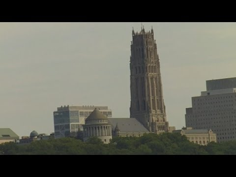 Riverside Church New York City - Seen From Hudson River Durng a Circle Line Cruise