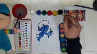 """How Do You Draw and Paint """" Romantic Smurf """" The Smurfs - Draw For Kids Handdrawing"""